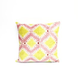 Tasdemir Rugs Ikat Silk Pillow - Large Square