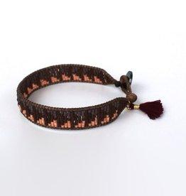 La Casa Cotzal Arrow Beaded Bracelet - Earth