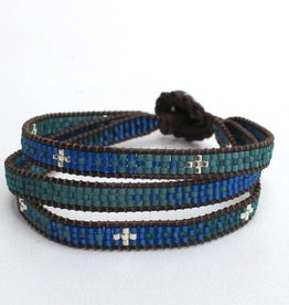 La Casa Cotzal Sita Wrap Bracelet - Blue