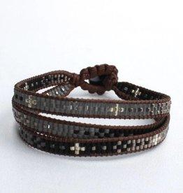 La Casa Cotzal Sita Wrap Bracelet - Black
