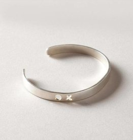 MulXiply XO Punch Cuff - Sterling Silver