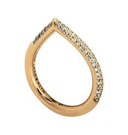 Jasn Altn Half Eternity Dipped Diamond Petal Ring