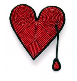Macon & Lesquoy Injured Heart Pin