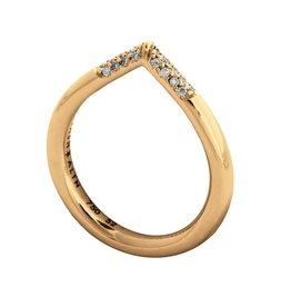 Jasn Altn Dipped Diamond Petal Ring