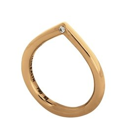 Jasn Altn Hammer Set Diamond Petal Ring