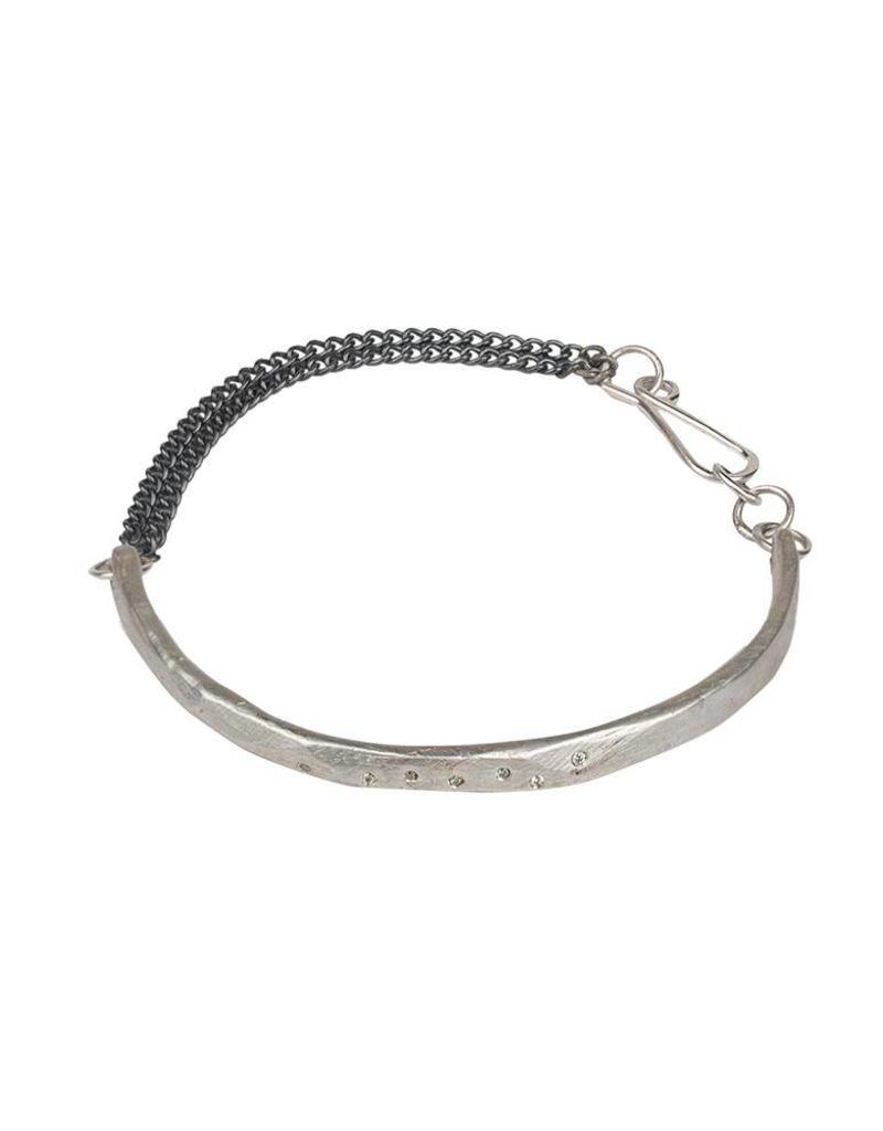 Chikahisa Studio Skipping Stones Simple Bracelet - Sterling Silver