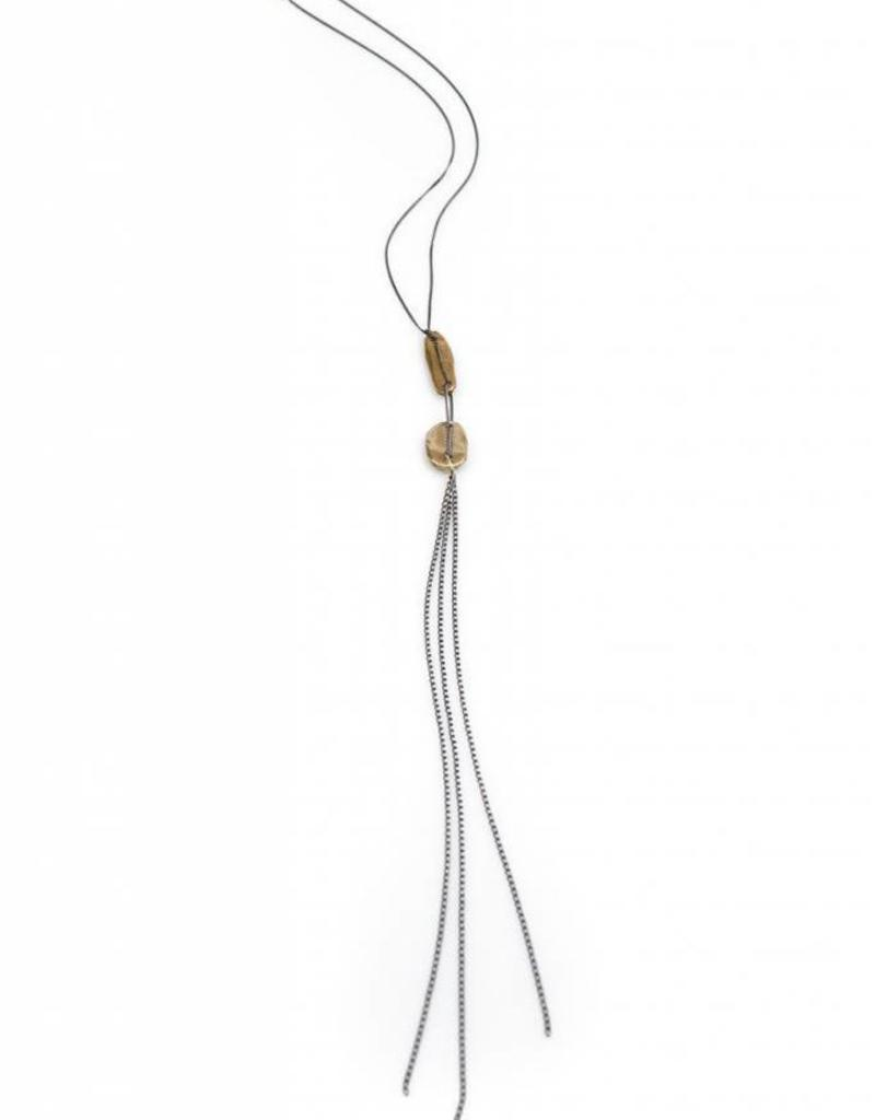 Chikahisa Studio Adorn Double Tassle Necklace - Bronze