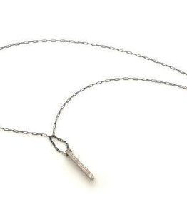 Chikahisa Studio Stonehenge Black Diamond Stick Necklace - Sterling Silver