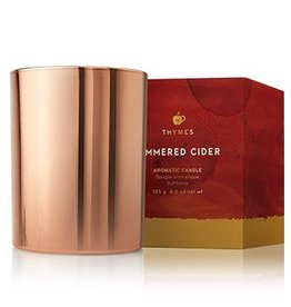 Thymes Simmered Cider Metallic Candle