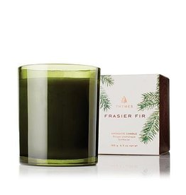 Thymes Frasier Fir Poured Candle - Green Glass