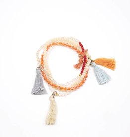 Rhapsody Bracelet - Orange + Peach