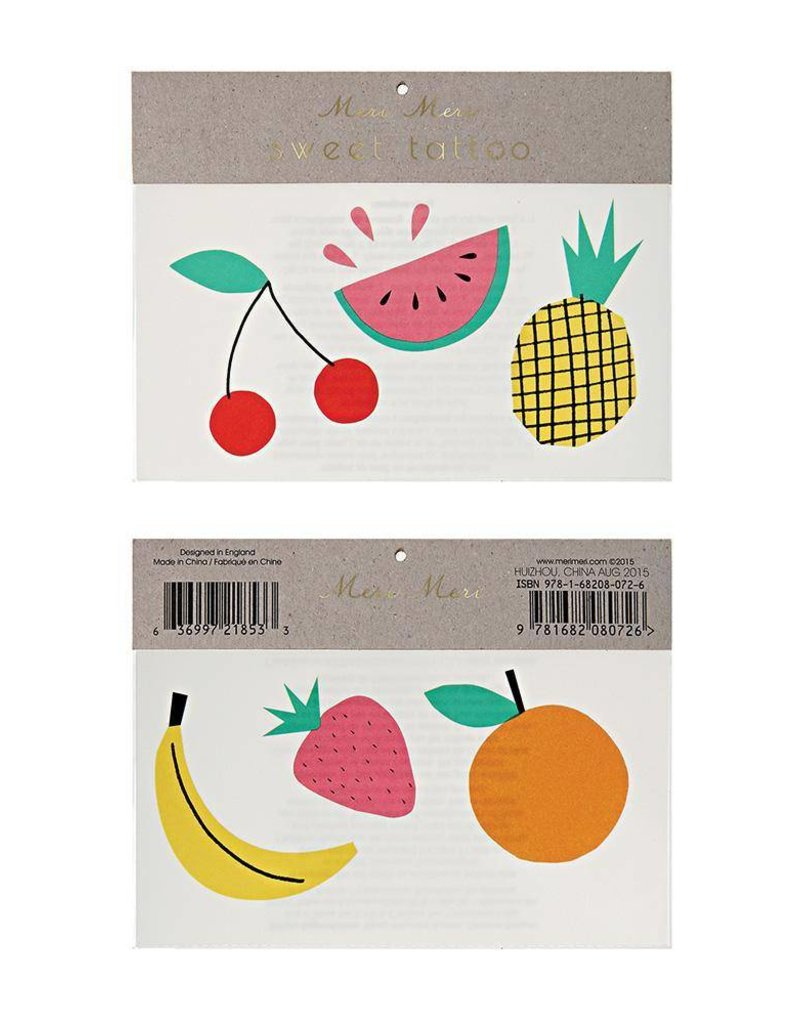 Meri Meri Fruit Tattoos
