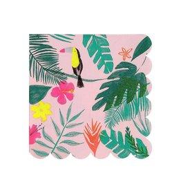 Meri Meri Pink Tropical Small Napkins
