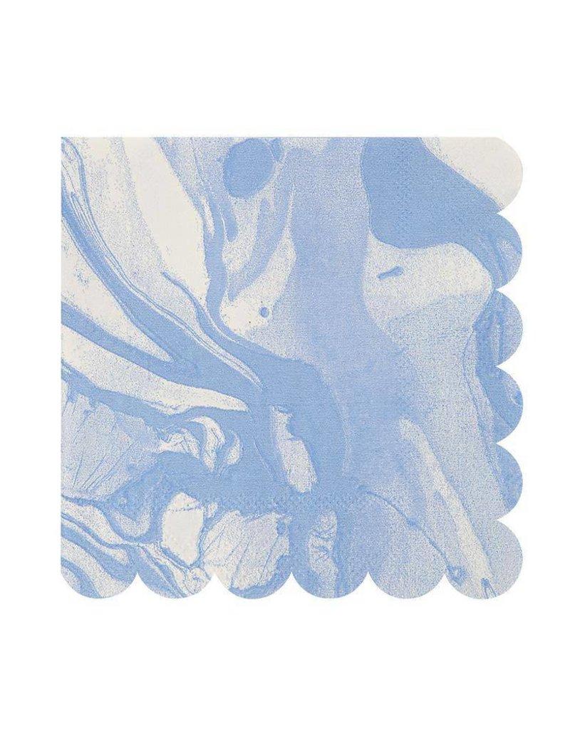 Meri Meri Blue Marble Small Napkins