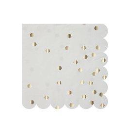 Meri Meri Silver Hexagon Small Napkins