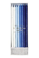 Meri Meri Birthday Candles - Blue Shades