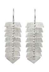 Sarah Swell Slim Fishbone Dangle Earrings