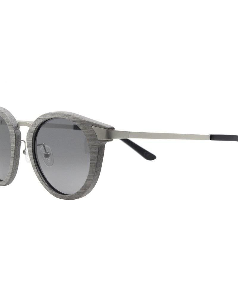 Analog Watch Co. Delaney - Silver Oak + Grey Lens