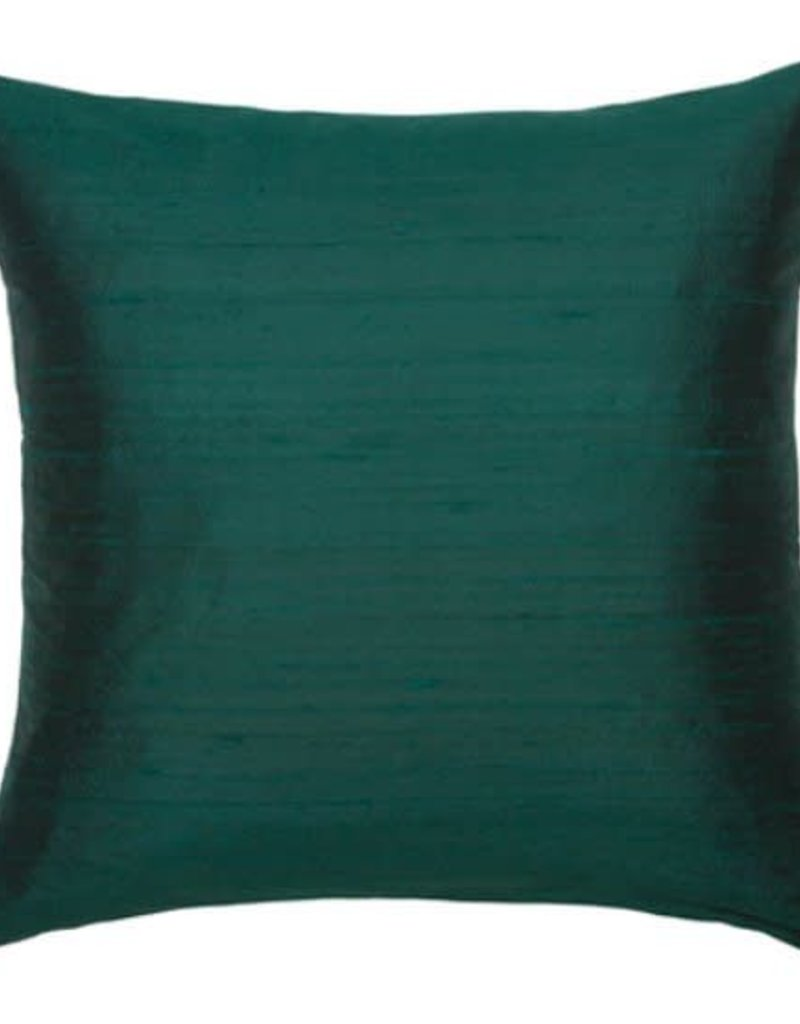 Eight Mood Dupione Square Pillow - Hunter Green