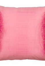 Eight Mood Dupione Square Pillow - Bubblegum Pink