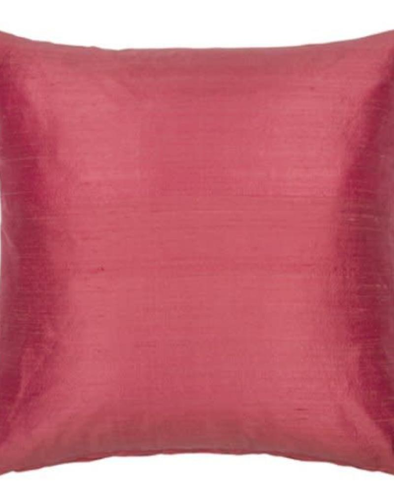 Eight Mood Dupione Square Pillow - Dusty Pink