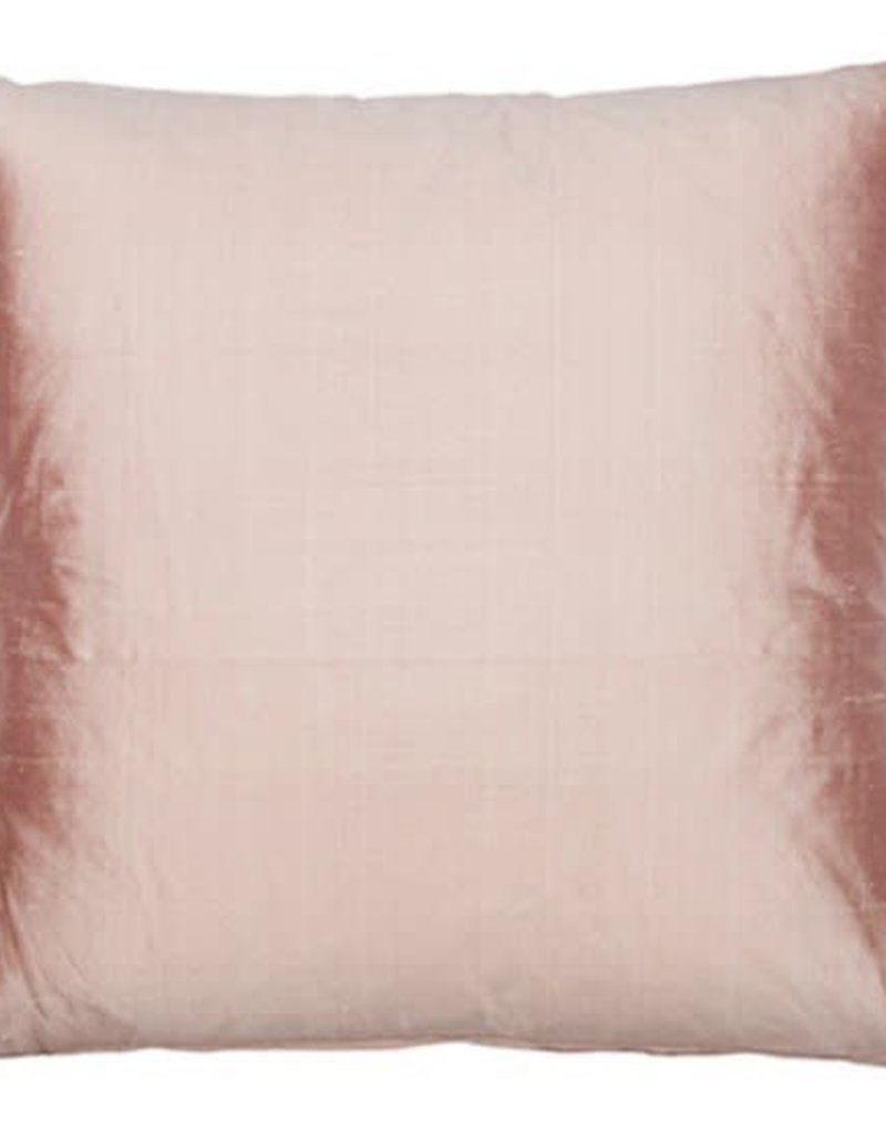 Eight Mood Dupione Square Pillow - Pearl