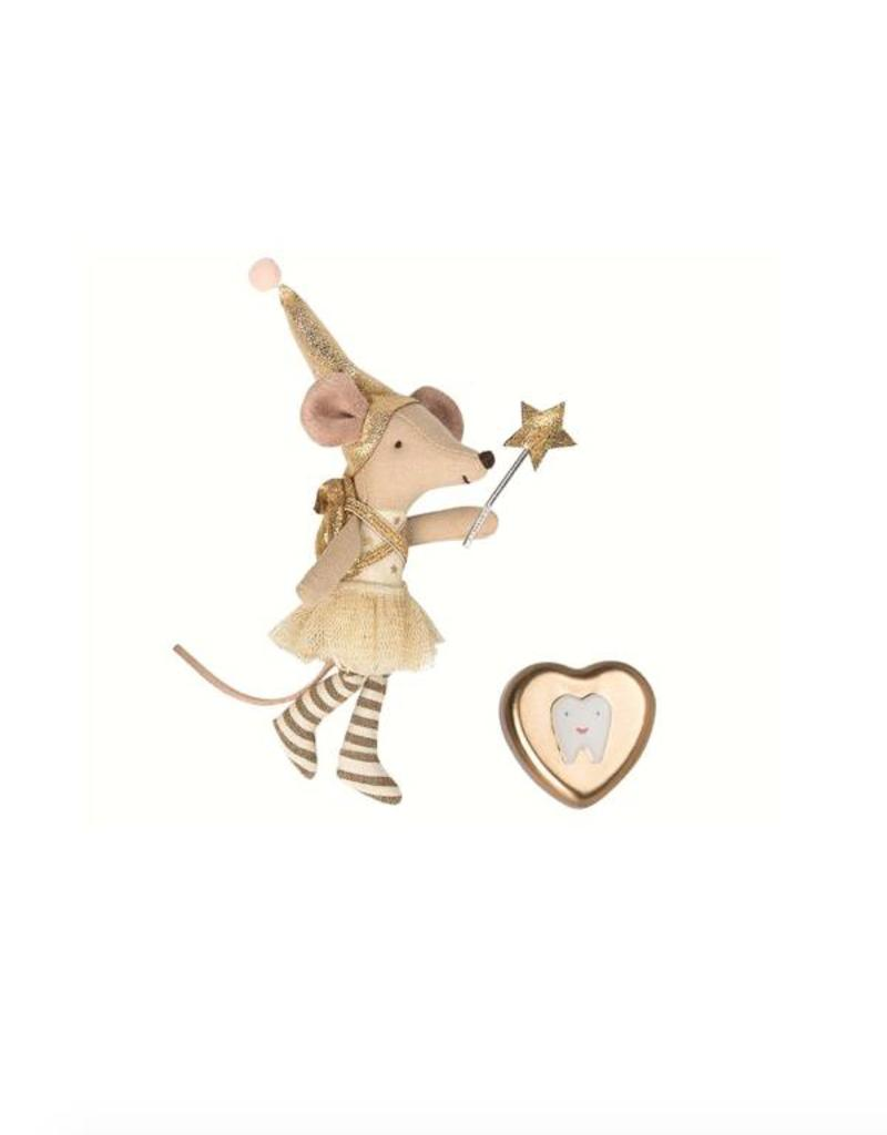 Maileg Tooth Fairy Mouse with Metal Tooth Box