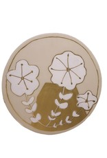 Entouquet Blush + Gold Floral Motif Circle Tile - Large