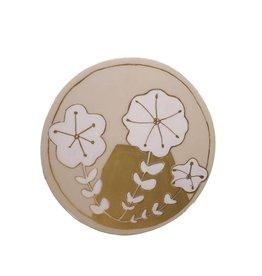 Entouquet Blush + Gold Floral Motif Circle Tile - Large