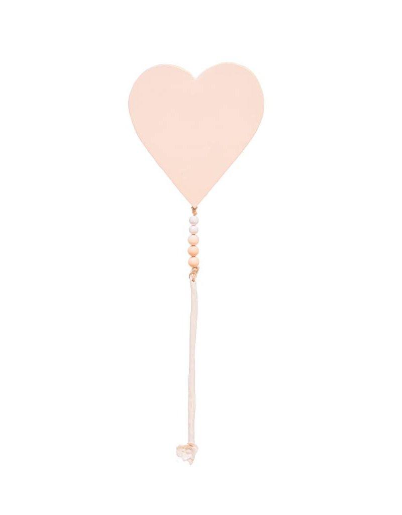 Entouquet Pink Heart Tile with Floral End Piece - Medium