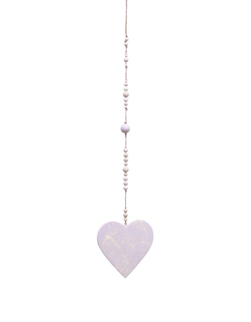 Entouquet Lilac Splatter Heart Hanging - Medium