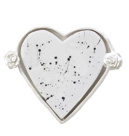 Entouquet Sm. Splatter Heart w/ Side Flower Tray