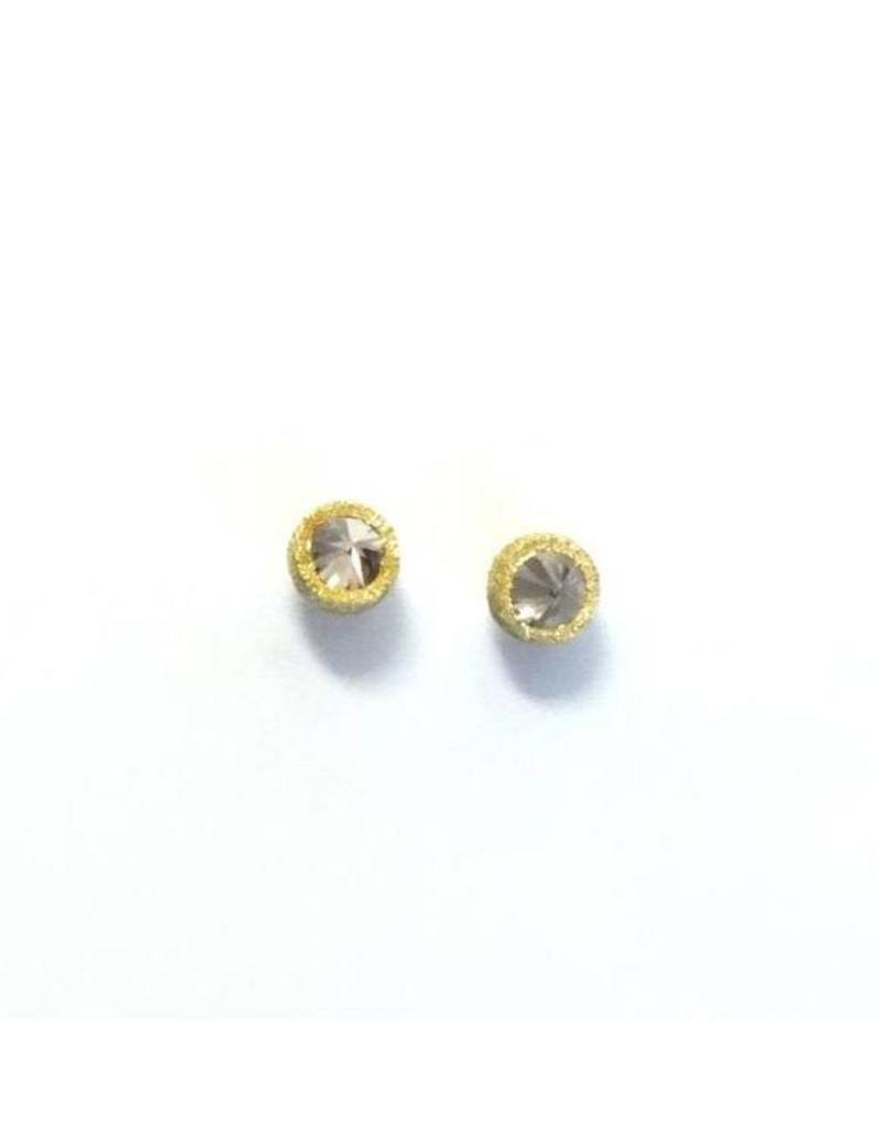 TAP by Todd Pownell Inverted Single Diamond Studs - Yellow Gold