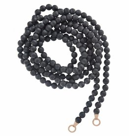 Marla Aaron Buffed Hematite Strand with Rose Gold Loops