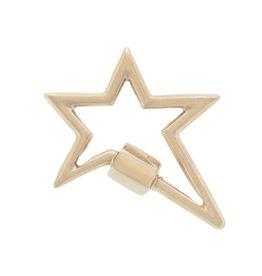 Marla Aaron Star Lock - Yellow Gold