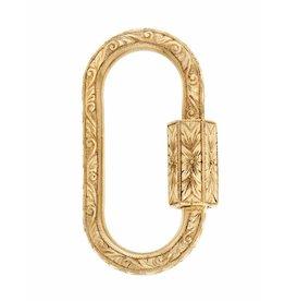 Marla Aaron Hand Engraved Regular Lock - Yellow Gold