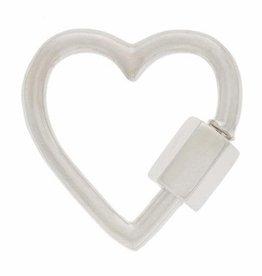 Marla Aaron Heart Lock - Silver