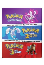 Viz Media Pokemon Movies 1-3 Blu-Ray Steelbook Collection