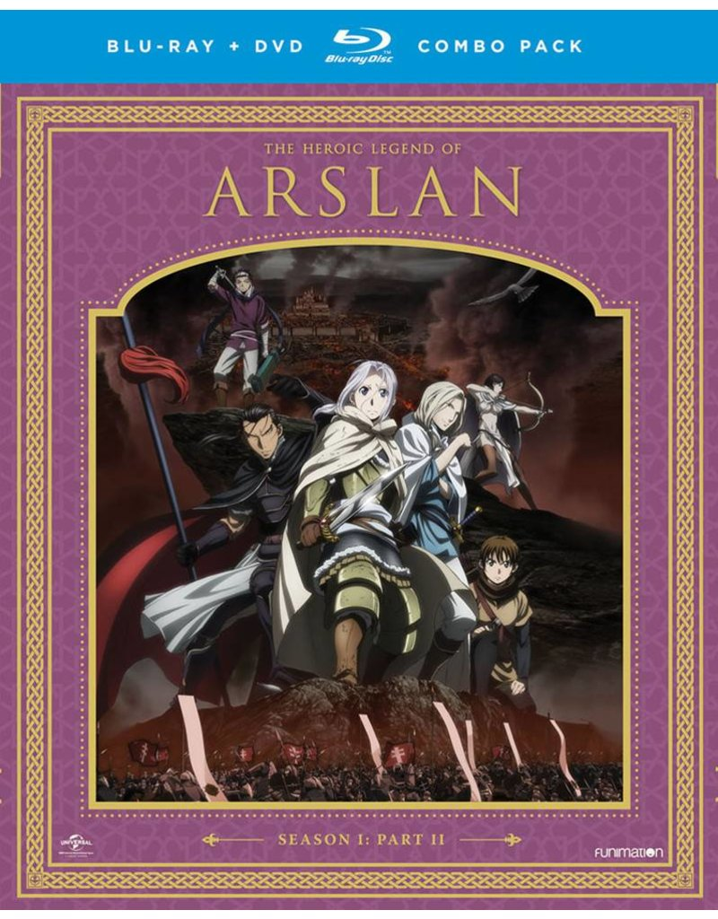 Funimation Entertainment Heroic Legend of Arslan, The Season 1 Part 2 Blu-Ray/DVD