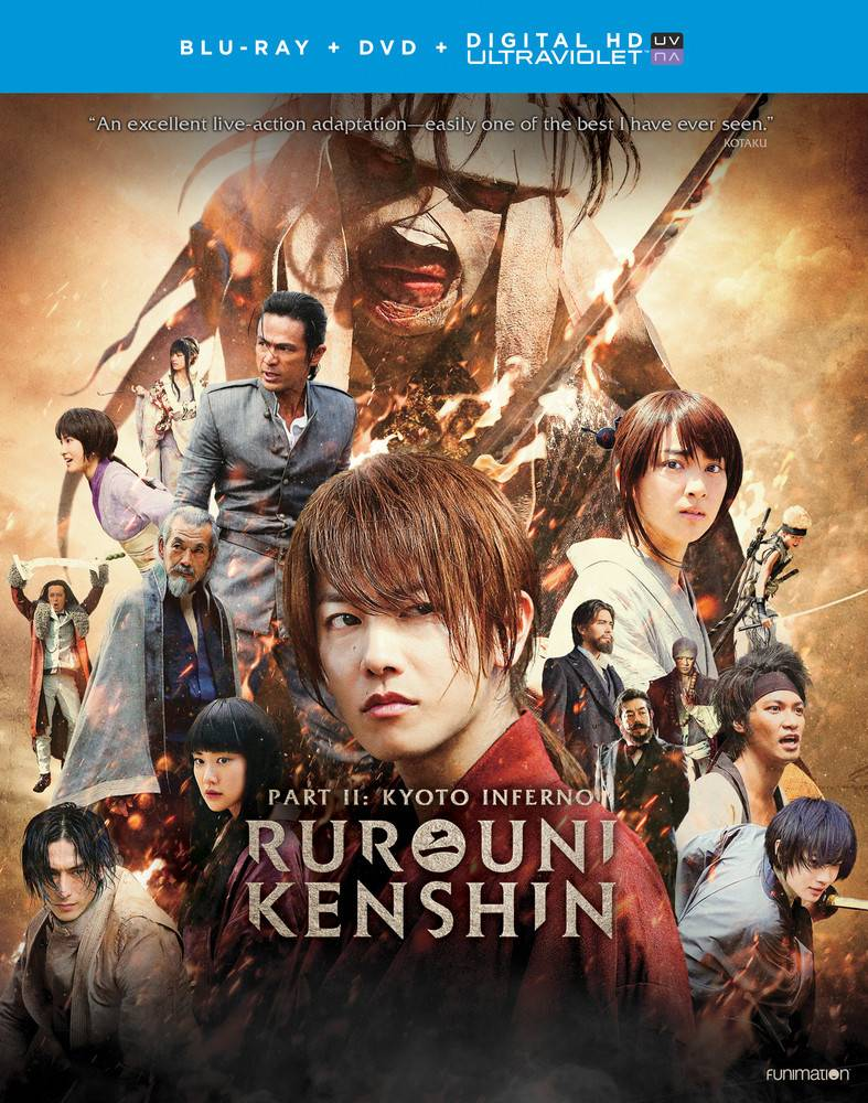 Funimation Entertainment Rurouni Kenshin Part 2: Kyoto Inferno Blu-Ray/DVD