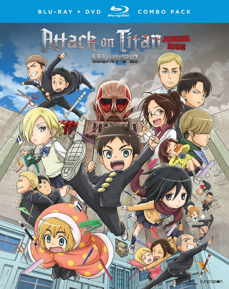 Funimation Entertainment Attack on Titan Junior High Blu-Ray/DVD