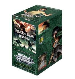 Bushiroad Attack on Titan Vol. 2 (Booster Box) Weiss Schwarz