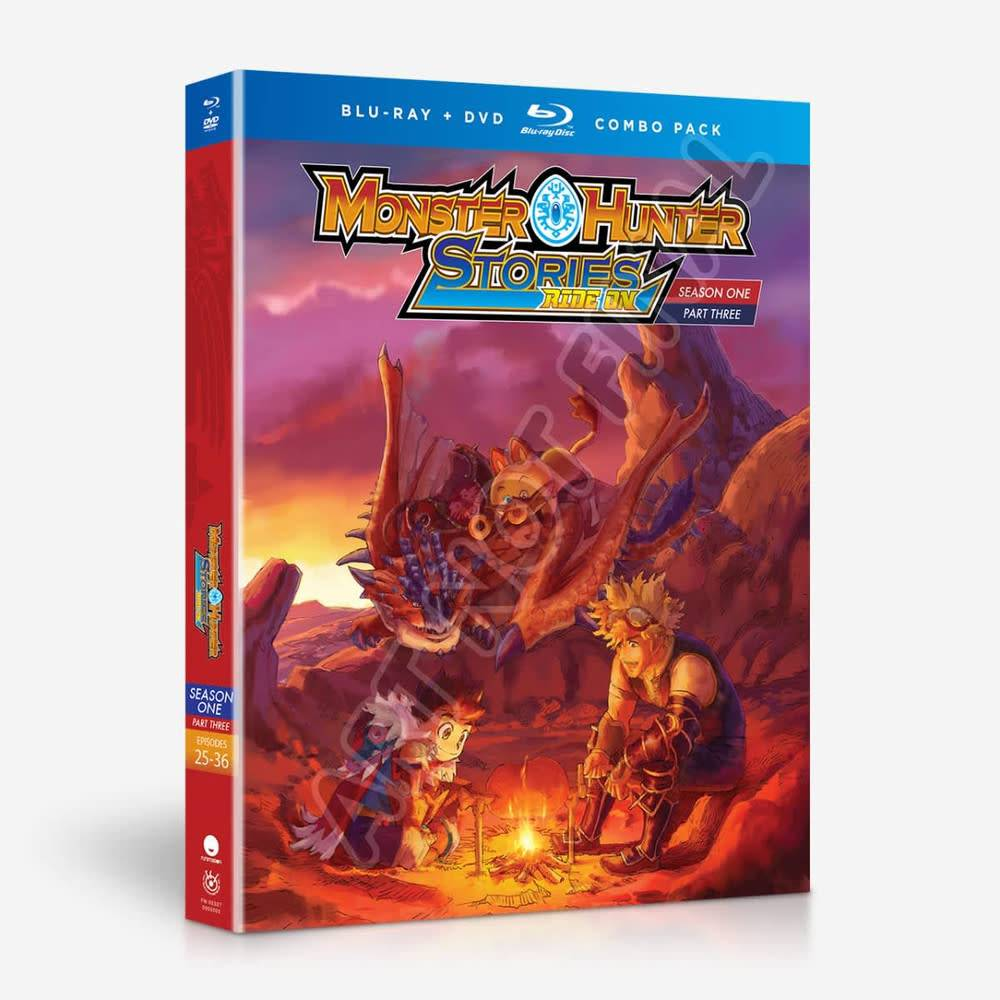 Funimation Entertainment Monster Hunter Stories Ride On Season 1 Part 3 Blu-Ray/DVD