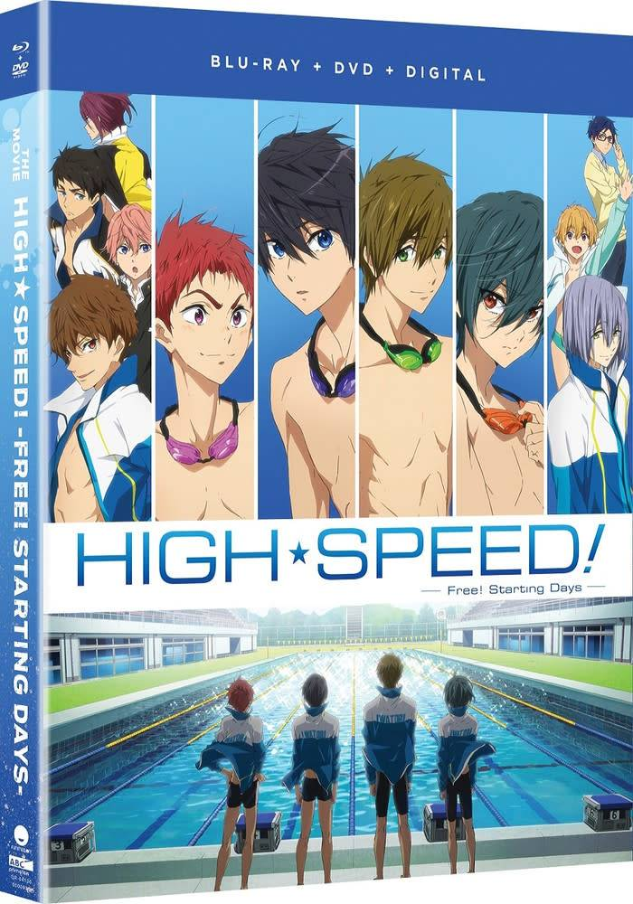 Funimation Entertainment High Speed! Free! Starting Days The Movie Blu-Ray/DVD