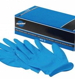 Park Park Tool MG-2L Nitrile Mechanic Gloves: Large, Blue