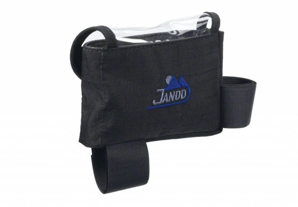 Jandd Jandd Top Tube/ Stem Bag: Clear-top with velcro closure Black Medium
