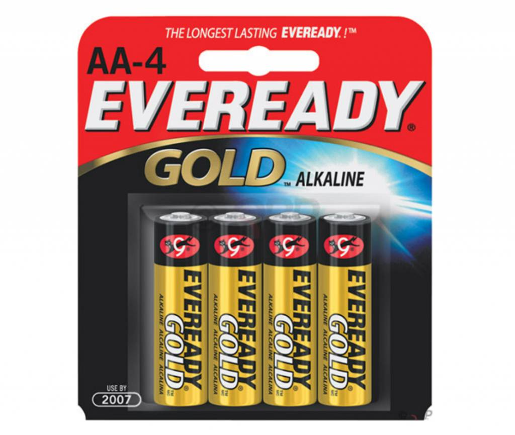 Eveready Eveready Gold AA Alkaline Battery: 4-Pack
