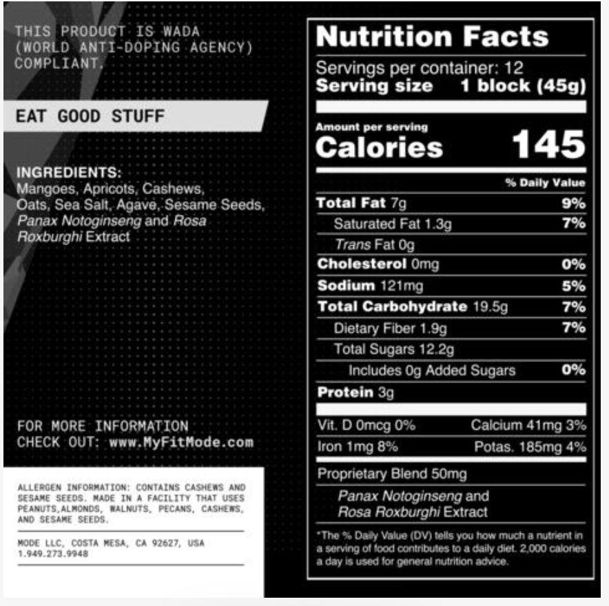 MOde Sports Nutrition MOde Sports Nutrition Energy Blocks