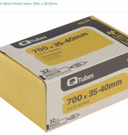 Q-Tubes Q-Tubes Value Series Tube with 48mm Presta Valve: 700c x 28-32mm