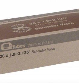 """Q-Tubes Q-Tubes Thorn Resistant 26"""" x 1.9-2.125"""" Schrader Valve Tube 642g"""